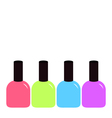 Pink blue violet green nail polish varnish icon vector image