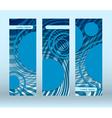 blue circles futuristic flyer vector image vector image