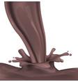 dark hot chocolate spray and splash vector image vector image