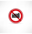 forbidden to take pictures icon vector image
