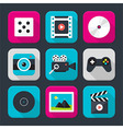Multimedia audio and video themed squared app icon vector image