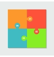 modern colorful puzzle infographic vector image