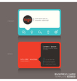 Modern trendy business card design vector image