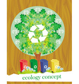 ecology card design segregation of garbage vector image