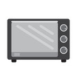 flat color oven icon vector image