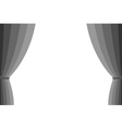 grey curtain vector image