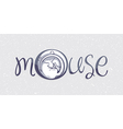 Mouse logo drawn vector image