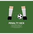 Penalty Kick vector image
