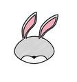 rabbit head wild cute animal vector image