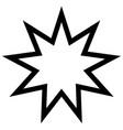 symbol bahai star of nine angles nine vector image