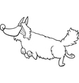 cartoon shaggy dog for coloring book vector image