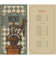 menu for a coffee house vector image vector image