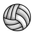 volleyball balloon sport icon vector image