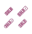 A set of stamps sold vector image