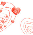 valentine day abstract heart background vector image vector image