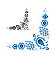 Traditional folk ornament and pattern vector image