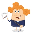 Businesswoman with graph vector image