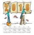2016 Sign Men calendar vector image