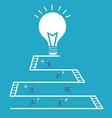 Businessman idea team work vector image