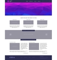 Website template Modern flat style with blue vector image vector image