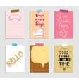 Set of creative 6 journaling cards vector image