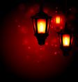 Lantern - Ramadan Kareem greeting background vector image