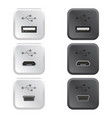 collection of usb ports vector image