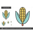 Corn ear line icon vector image