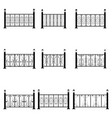 fence icons set vector image
