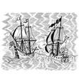 pirates ships battle vector image