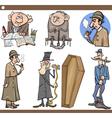 retro people set cartoon vector image