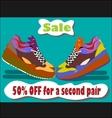 Sale shoes vector image