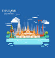 tourist attraction and landmarks in thailand vector image