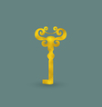 Golden Old-Fashioned Key vector image