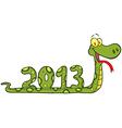 Funny Snake Cartoon Character vector image