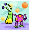 cartoon funny fantasy creature vector image