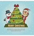 merry christmas isolated vector image