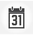 Halloween calendar outline icon vector image