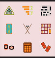 games icons set table games collection vector image