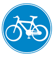 bicycle lane sign vector image vector image