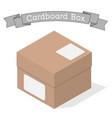 closed cardboard box vector image