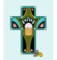 colorfull Easter stained glass vector image vector image