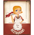 restaurant poster vector image vector image