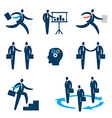 Businessman icons vector image