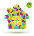 eco house logo house from colored leaves vector image