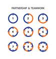 Handshake abstract logo design template business vector image