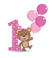 happy birthday bear 1 copy vector image