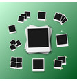 photo frame realistic snapshot modern photo vector image