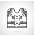Rescuing vest flat line icon vector image