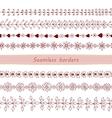 Set of Seamless Hand Drawn Borders vector image